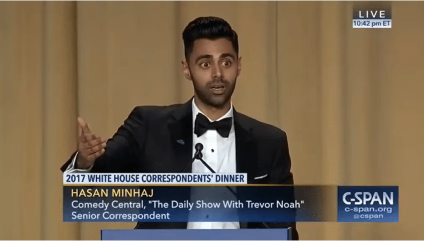 Minhaj White House Coorespondent's dinner, Steve Bannon, Nazi, Jeff Sessions