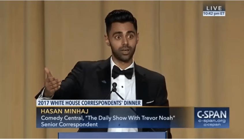 Minhaj White House Coorespondent's dinner, Steve Bannon, Nazi, Jeff Sessions