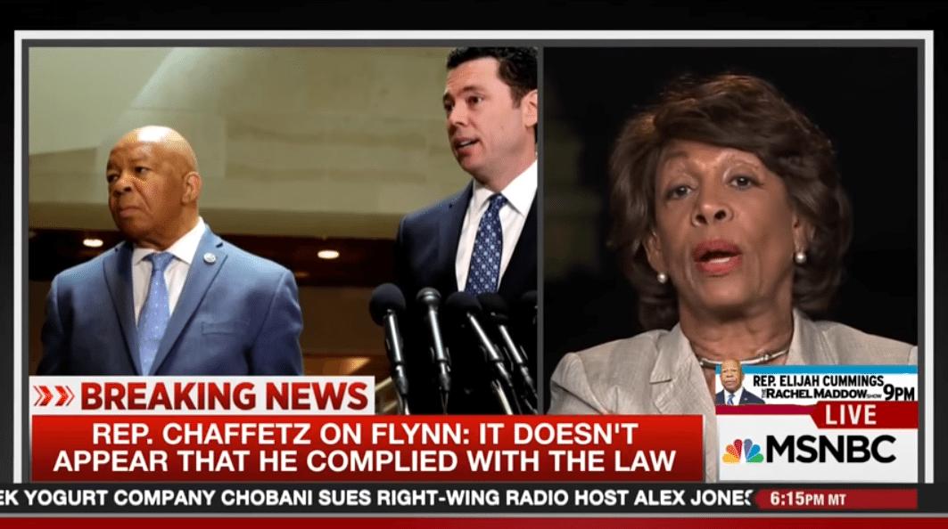 Maxine Waters Chaffetz Russia conspiracy