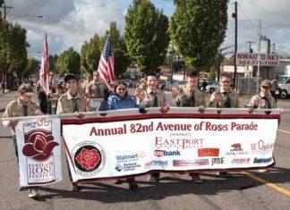 Portland Avenue of Roses parade violent liberals