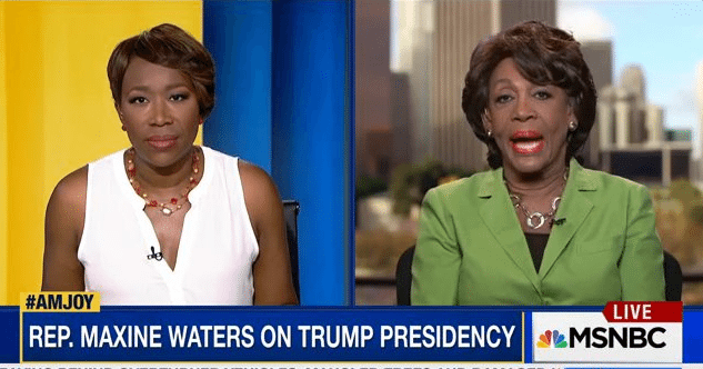 Maxine Waters impeachment Russia tweets
