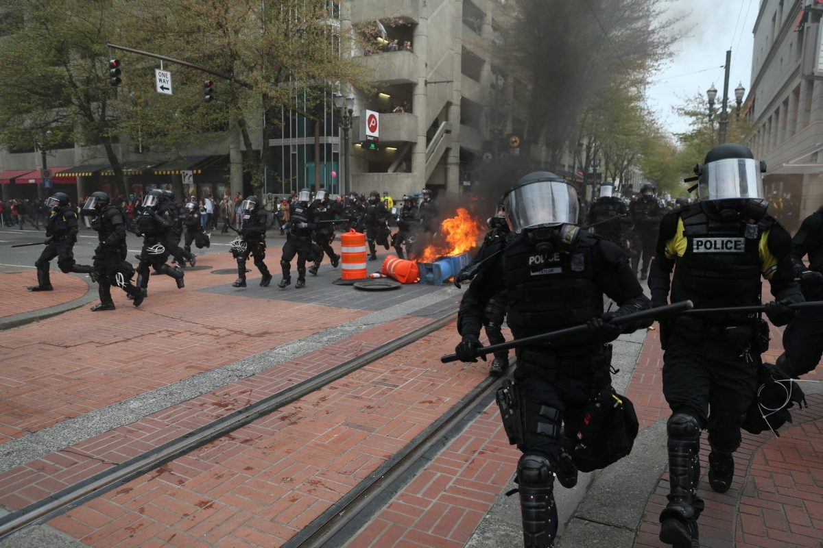 Portland May Day anarchists