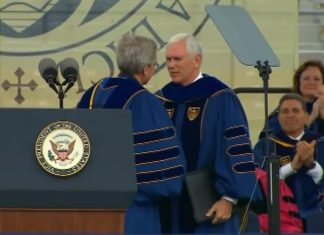 Video: Notre Dame Graduates Insult VP Pence at Commencement Address