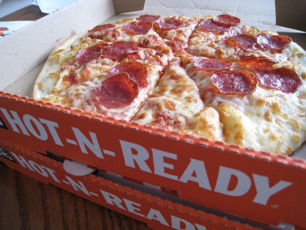 Little Caesars pepperoni pizza