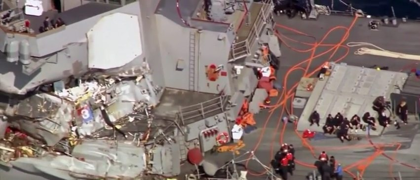 Was the USS Fitzgerald incident a collision or was it rammed?
