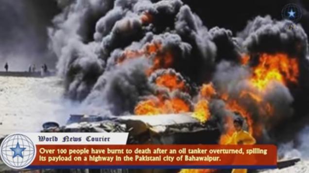Pakistan inferno burns hundreds. (Youtube)