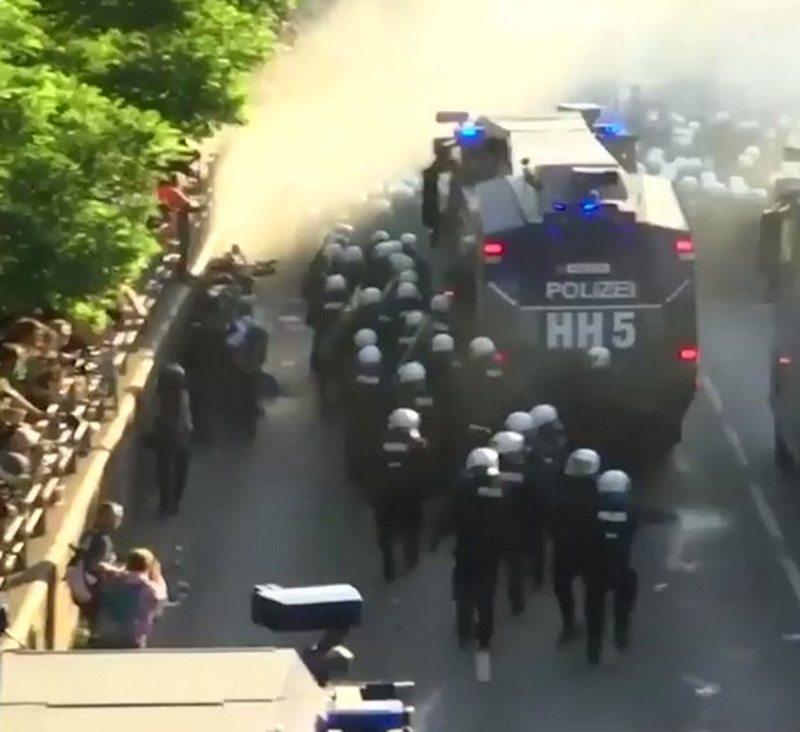 Violent Protesters Descend on G-20 Summit in Hamburg