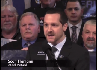 Maine Dem. Scott Hamann threatens Donald Trump on Facebook