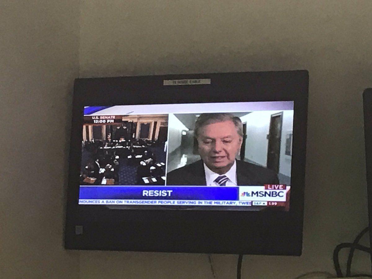 MSNBC resist chyron