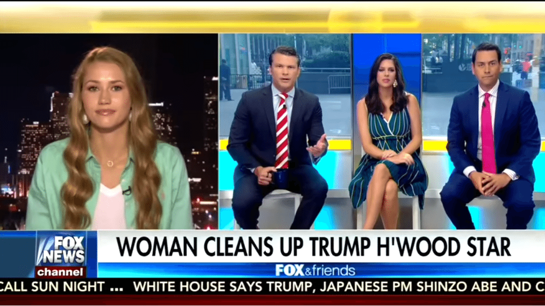 Woman who cleaned Trump's Hollywood star discusses liberal hate on Fox