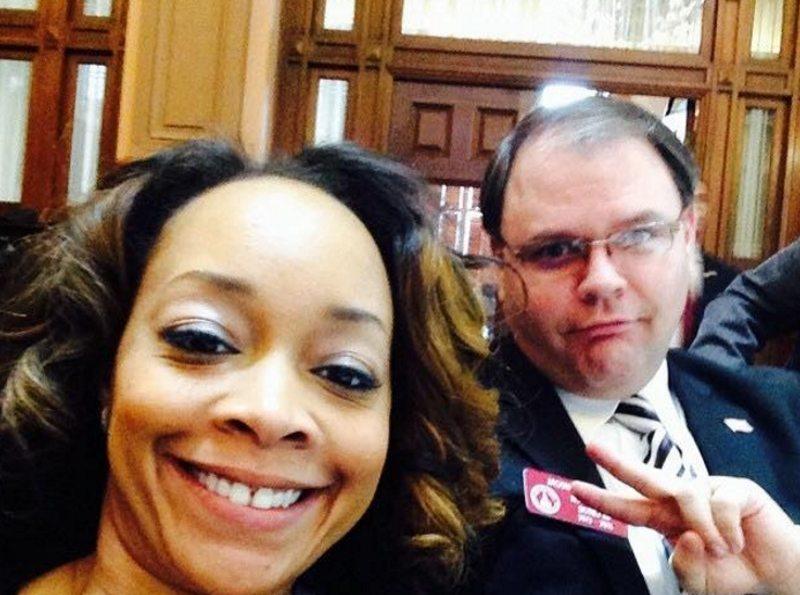 Rep. Jason Spencer and Democrat LaDawn Jones