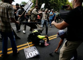 Charlottesville Nazis drowning
