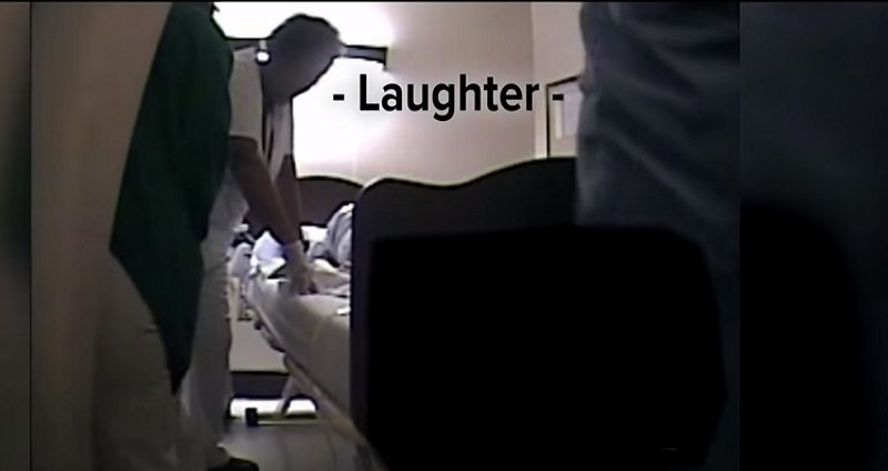 Video: Nurses Laugh While WWII Veteran Dies