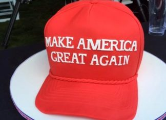 MAGA hat coffee shop Make America Great Again