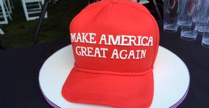 MAGA hat coffee shop Make America Great Again