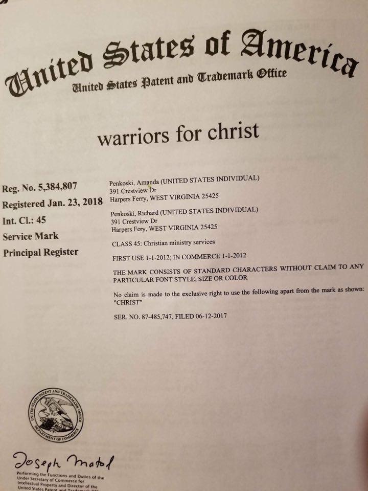 Trademark - Warriors for Christ