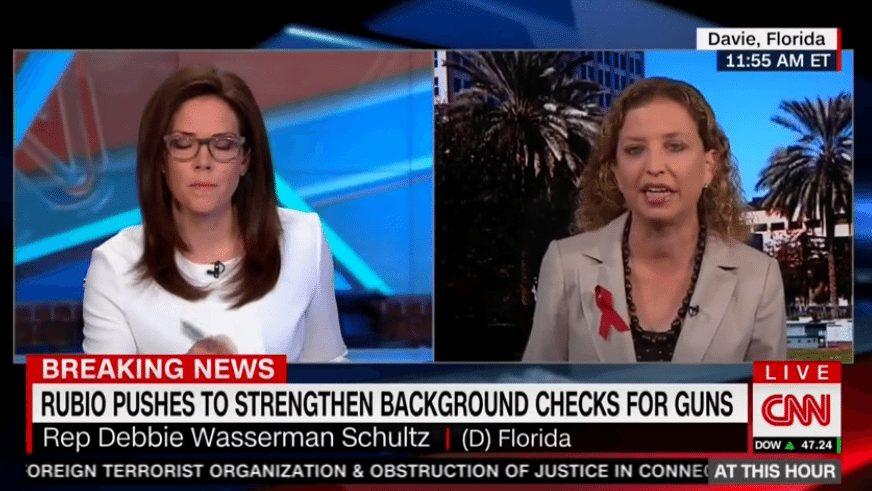 Debbie Wasserman Schultz rapid-fire magazines