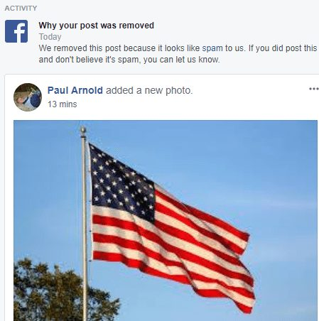 Facebook flag spam