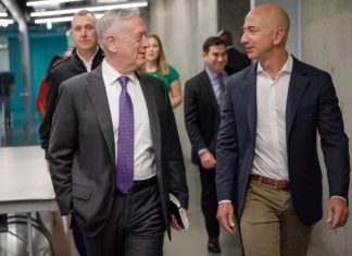 DefSec James Mattis and Amazon founder Jeff Bezos