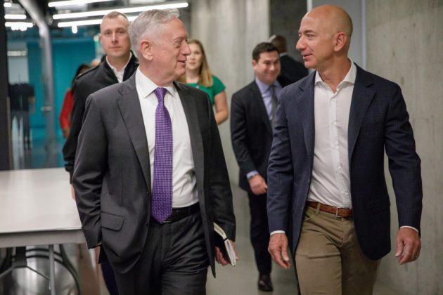 DefSec James Mattis and Amazon founder Jeff Bezos