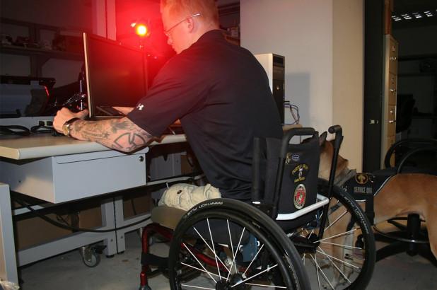 Marine Veteran's tattoo