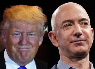 President Donald Trump and Amazon founder Jeff Bezos