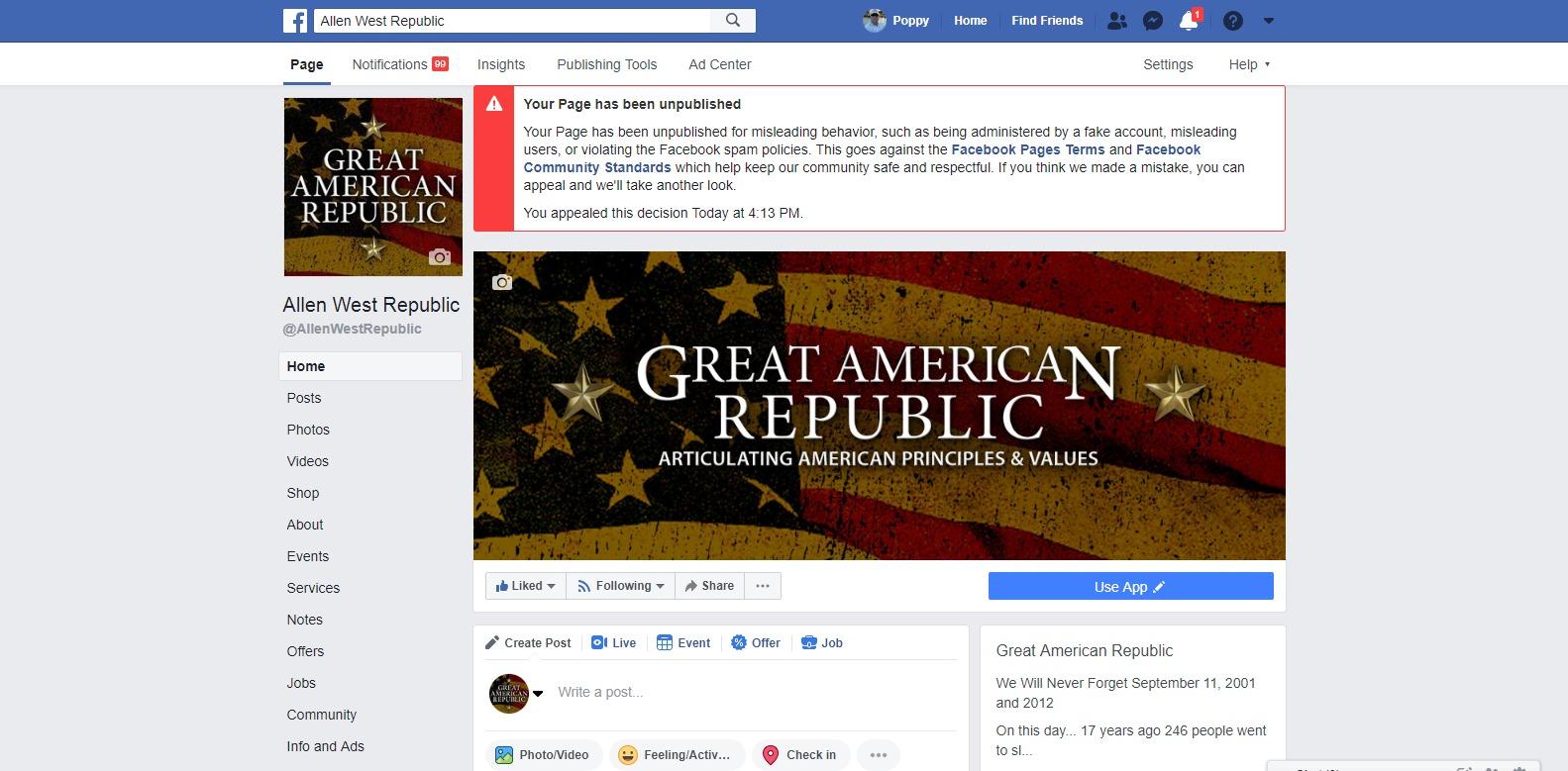 Facebook Great American Republic