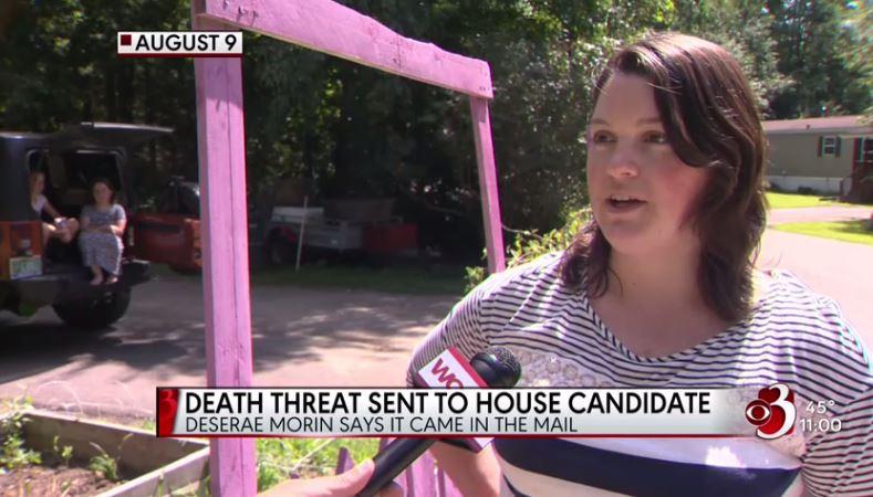 Vermont death threat rape