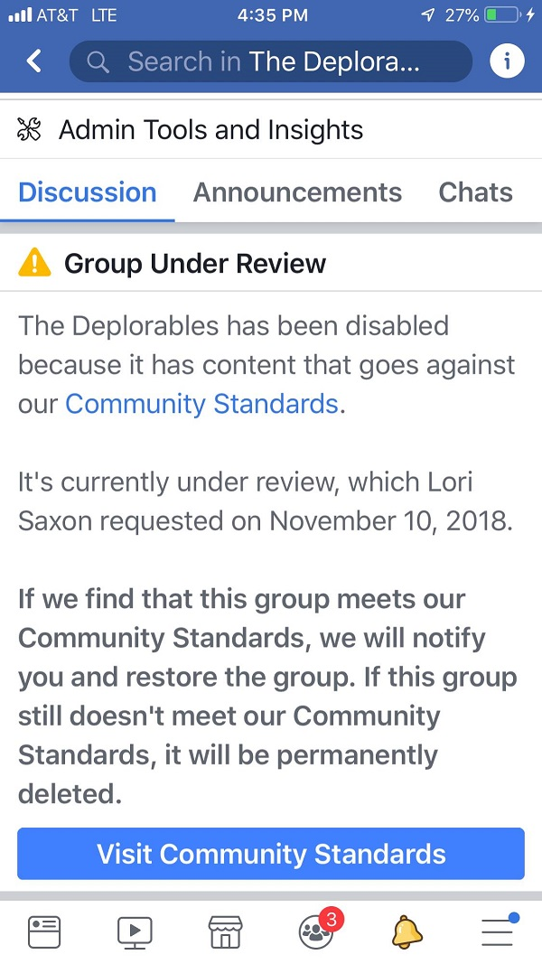Facebook Deplorables