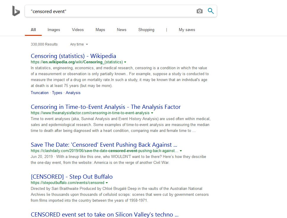 google bing censored