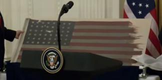 american flag comes home