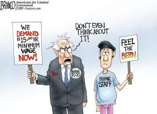 Bernie Sanders wages