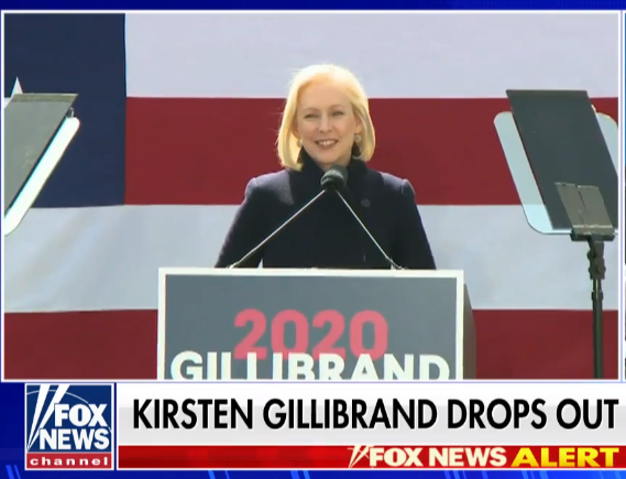 Kirsten Gillibrand drops