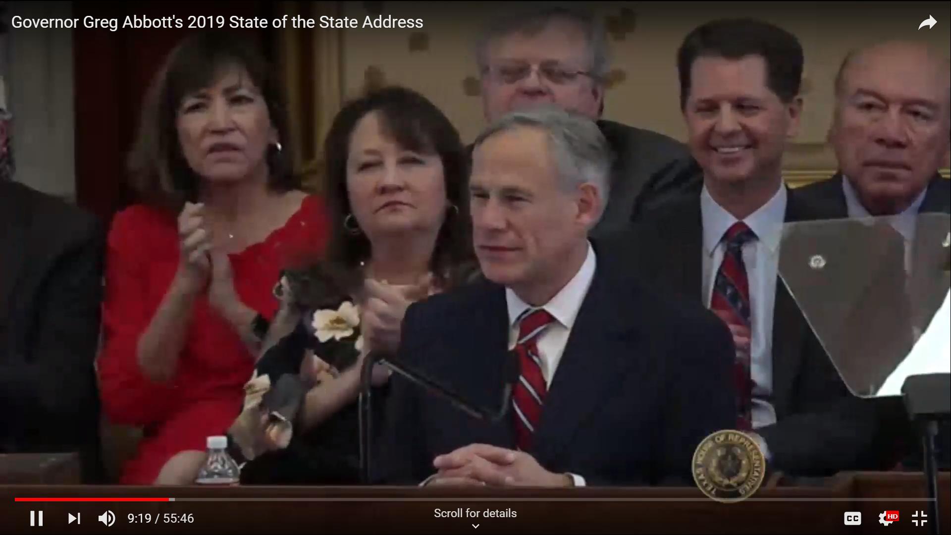 texas gov announced