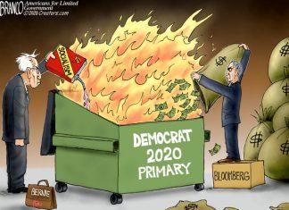 Democrat berning
