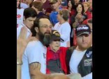 Video of The Day: 100-year-old WW2 vet carried to his seat at Trump rally — Trump responds