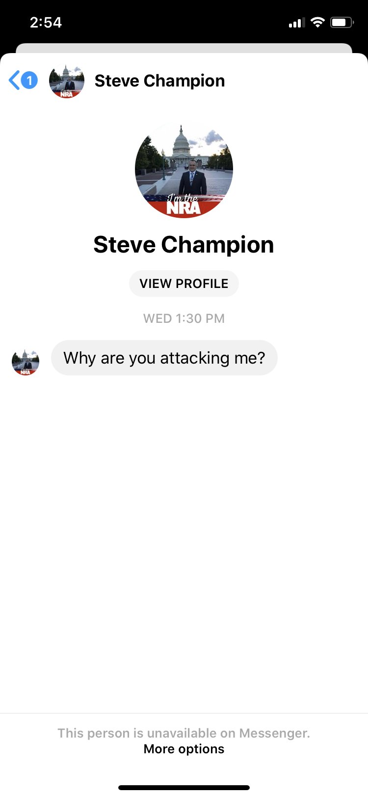 Text Message from Steve Champion