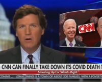 Tucker Carlson Reveals That CNN Took COVID Death Ticker Off Screen On Biden's First Day In Office (Video)