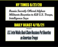 """The Reason """"Russian Bounty On US Troops"""" Story Was Released, And The Reason It Was Corrected (Video)"""