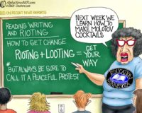 Cartoon of the Day: Reading, Writing and Rioting