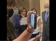 Nazi Pelosi Repeatedly Violates Her Own Mask Edict; Will She Be Arrested? (Video)