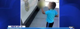 Video: Photo of child giving finger to Mass. officer goes viral