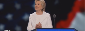Did Hillary Clinton fib again during her acceptance speech?