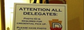 Racist sign spotted at Democratic convention