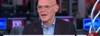 Carville freaks out: Kids will die and you will go to hell if you shut down Clinton Crime Family Foundation