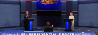 'Reporters' at third debate caught cheering Hillary, groaning at Trump