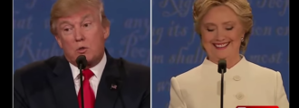 Sick: Watch Hillary crack up when Trump mentions gays thrown off buildings in Muslim countries