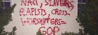 Pennsylvania homes hit with anti-Christian, anti-GOP graffiti