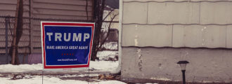 Maine writer, publicist admits stealing 40 Trump signs in WaPo article