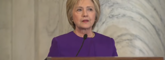 Watch sore loser Hillary Clinton blame 'fake news' for her loss
